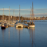 Boats at Preston Docks