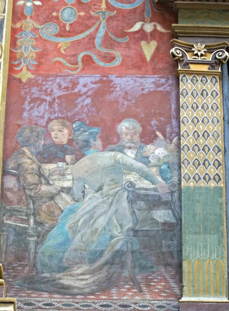 Keskustelu. Galleria Sciarran maalauksia.