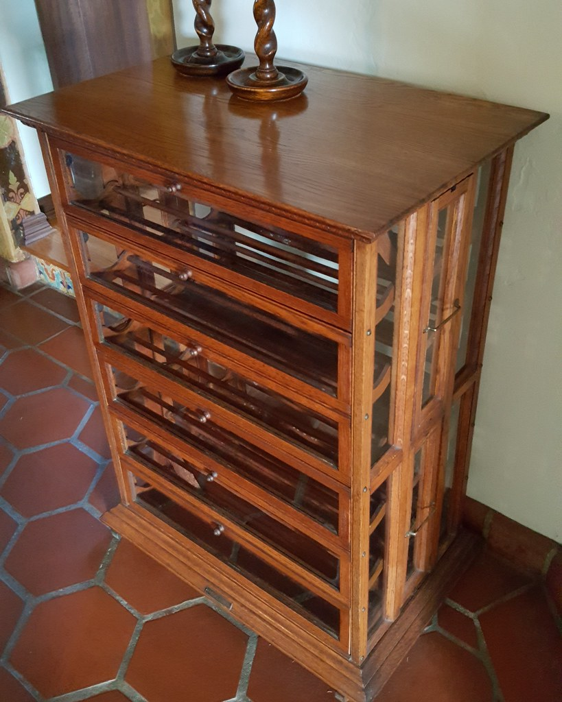 A. N. RUSSELL & SONS RIBBON CABINET, C. 1900. $1,350. - Furniture & Furnishings