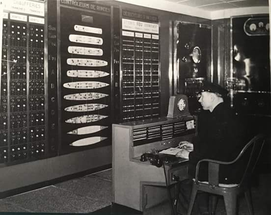 The firs-control center of SS Normandie was the most modern aboard any ship of the period.