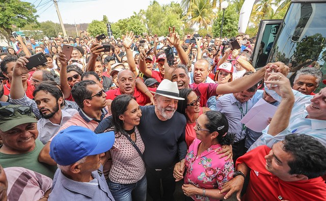 Lula visita o campus de Salinas do Instituto Federal do Norte, em 26 de outubro de 2017. - Créditos: Ricardo Stuckert
