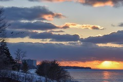 Winter sunset - Lakefront Lodge