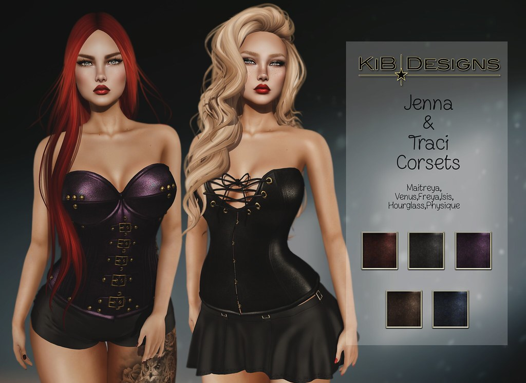 KiB Designs - Jenna & Traci Corsets @Secret Affair Event - TeleportHub.com Live!