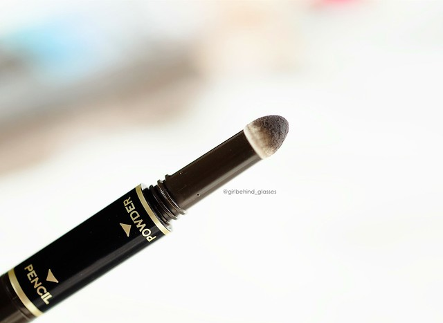 K-Palette 1 Day Tattoo Lasting 3Way Eyebrow Pencil Grayish Brown powder