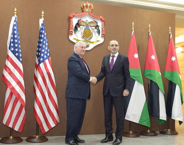 Secretary Tillerson Meets With Jordanian Foreign Minister Safadi