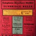 Davis and Co telephone directory holder for Tunbridge Wells area, c1932