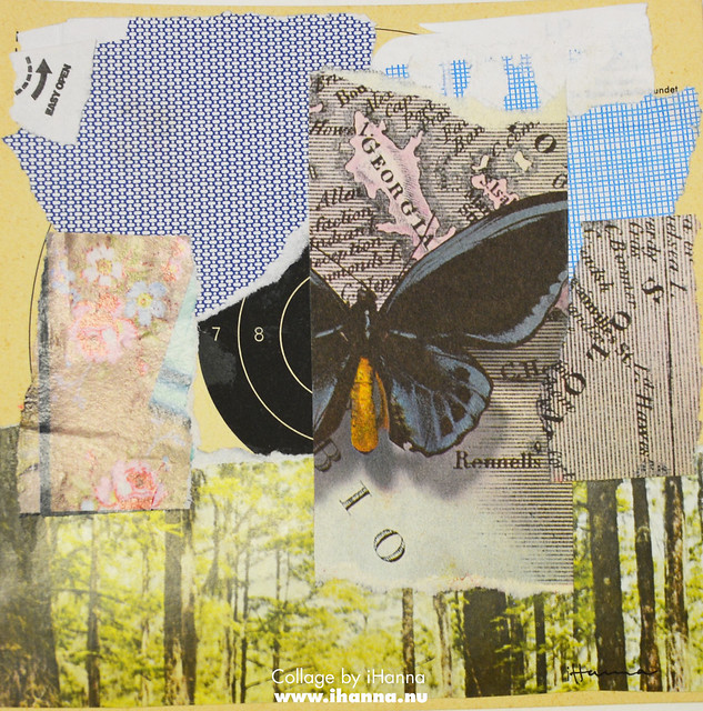 Butterfly Collage: 365 Collages in 2018 Week 3 by iHanna #365somethings2018 #collage #art