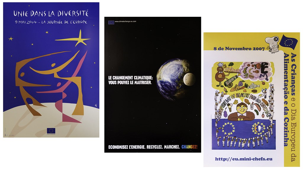 Three information and promotional posters produced by the European Union, 1990s-2012.