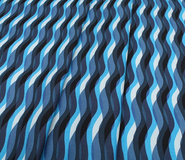 COTTON+STEEL Poolside 6012-02 Waves Blue