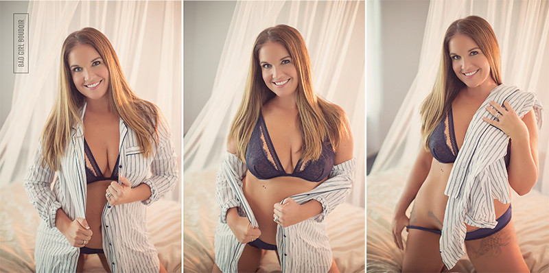 sexy mens striped shirt girl next door boudoir saint augustine photographer