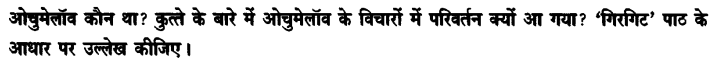 Chapter Wise Important Questions CBSE Class 10 Hindi B - गिरगिट 22