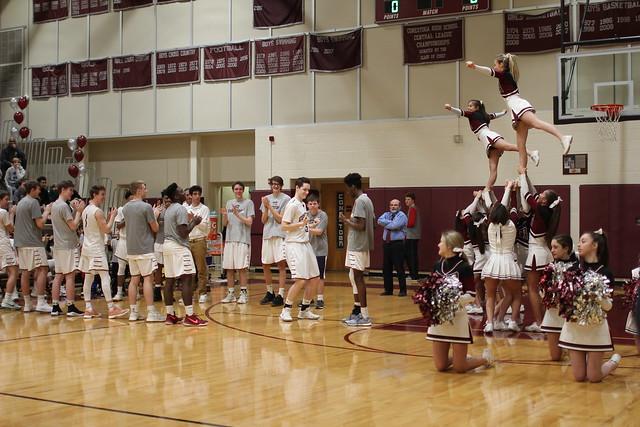 Boys basketball slam dunk against Haverford