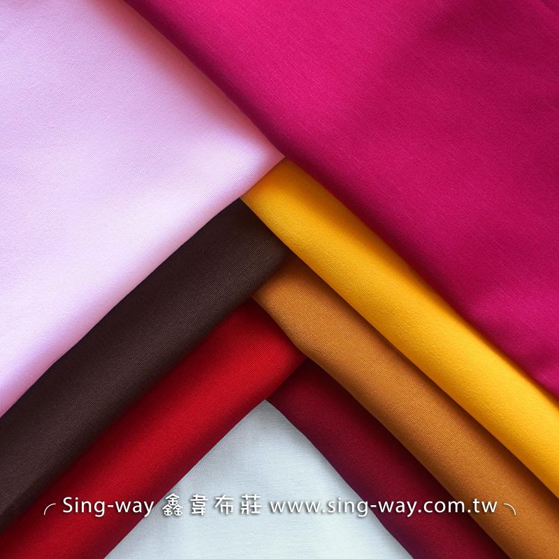 J340109 粉紅黃色系 素面長纖 不透明不易皺 簡約無印 禪風 宗教 中國服裝布料