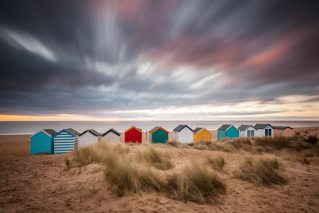 Southwold Beach Huts Suffolk, Canon EOS 5D MARK II, Canon EF 16-35mm f/4L IS USM