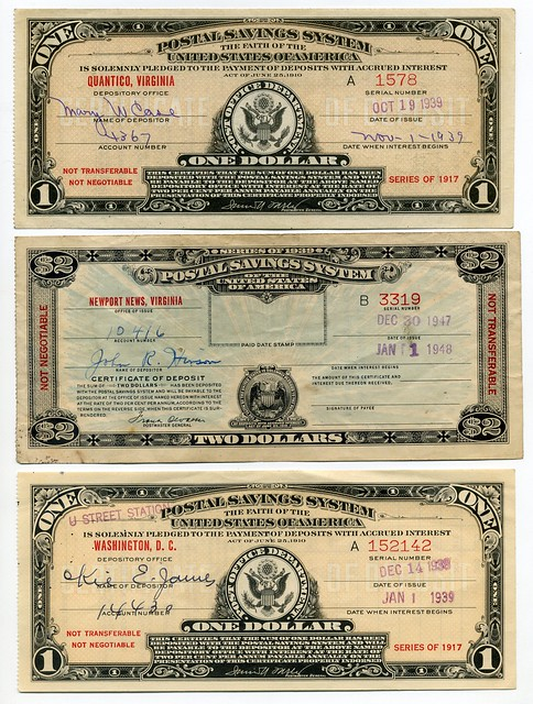 Postal Savings System Certificates