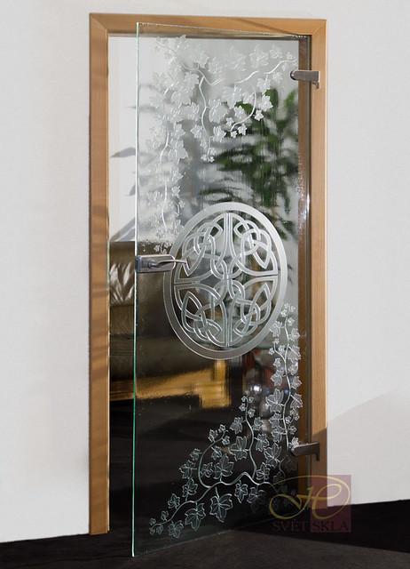 nodus skleněné dveře