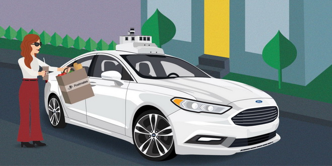 【圖一】Postmates為自動駕駛車輛計畫中首位自選快遞服務的合作夥伴,透過全新的技術應用方式,提供更有效率的快遞服務,以及連結更多客戶、小型...