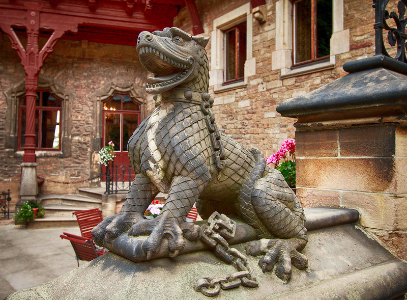 Wernigerode Castle dragon. Credit Mundus Gregorius, flickr