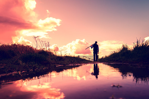 nikon nikond7100 d7100 dark lightroom light lowperspective rural reflections water sky countryside clouds colours silhouette shadows human person perspective england iratebadger