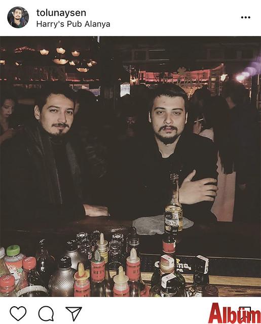 Tolunay Şen, yakın dostu Burak Berberoğlu'yla birlikte Harry's Pub'da keyifli bir gece geçirdi.