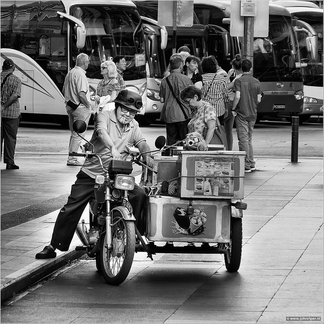 Jolly ice cream seller