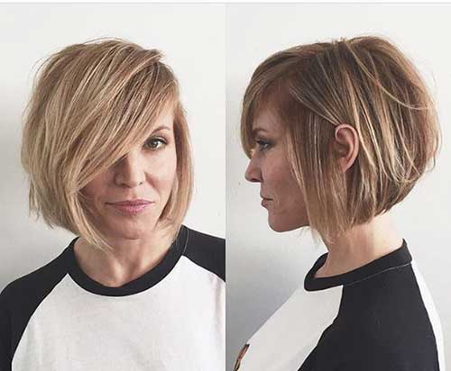 20 Top Layered Short Haircuts For Round Face 2018