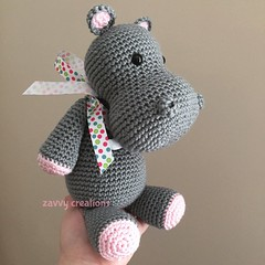 Classic Gray and Pink Hippo