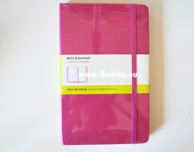 Moleskine Plain Notebook (shiny and new)