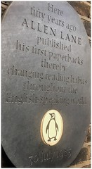 Photo of Allen Lane black plaque