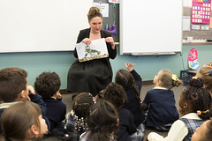 State representative Stephanie Cummings visited and read to SS Peter and Paul School students from kindergarten, first and second grade during Catholic Schools Week.