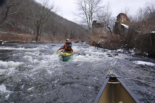 Running the dam