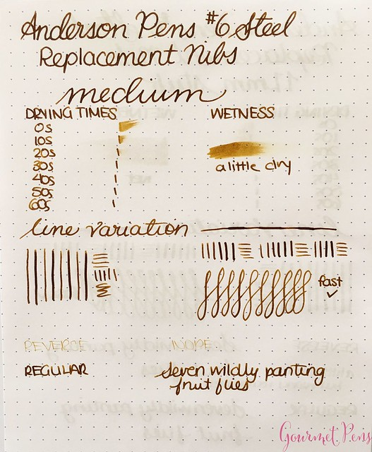 Review @AndersonPens Replacement #6 Stainless Steel Nibs for Fountain Pens 17