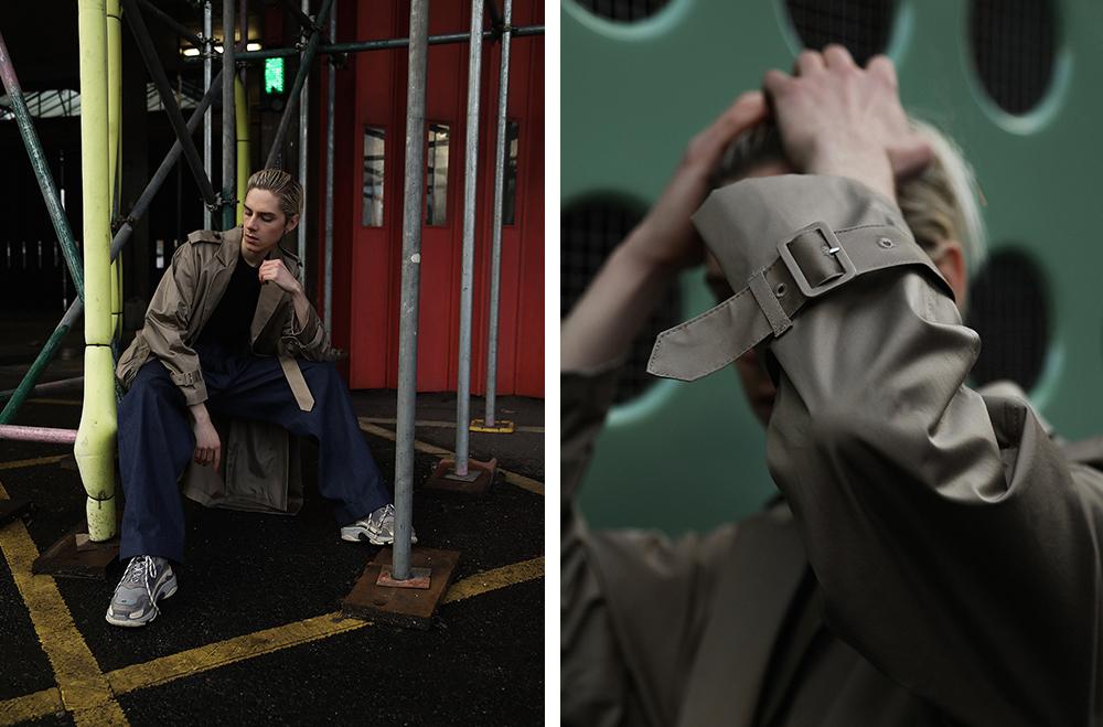 MikkoPuttonen_Fashionblogger_London_Asos_Menswear_Trenchcoat_Tonsure_BalenciagaTrepleS12_web