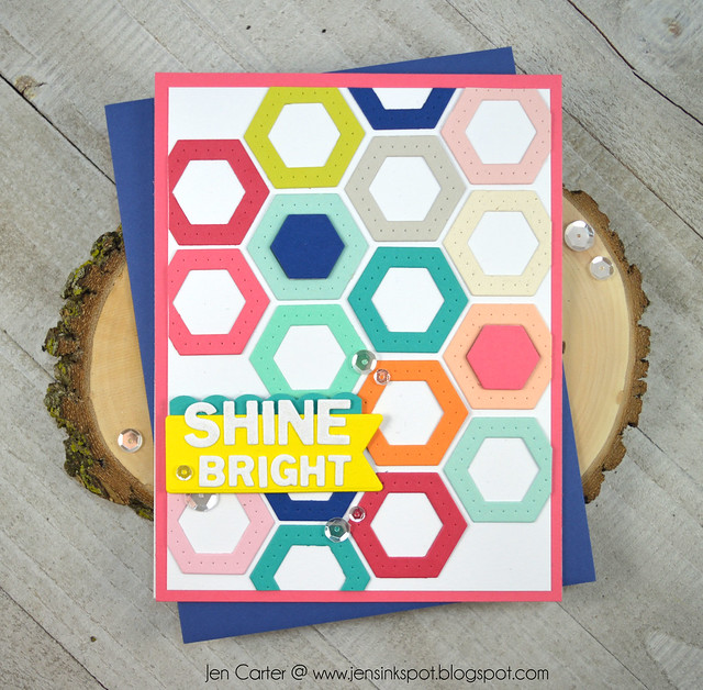 Jen Carter Winnie Walter Josephine Hexagons Holiday Tiles Shine Bright