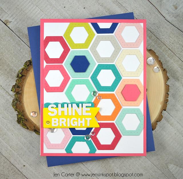 Jen Carter Winnie Walter Josephine Hexagons Holiday Tiles Shine Bright