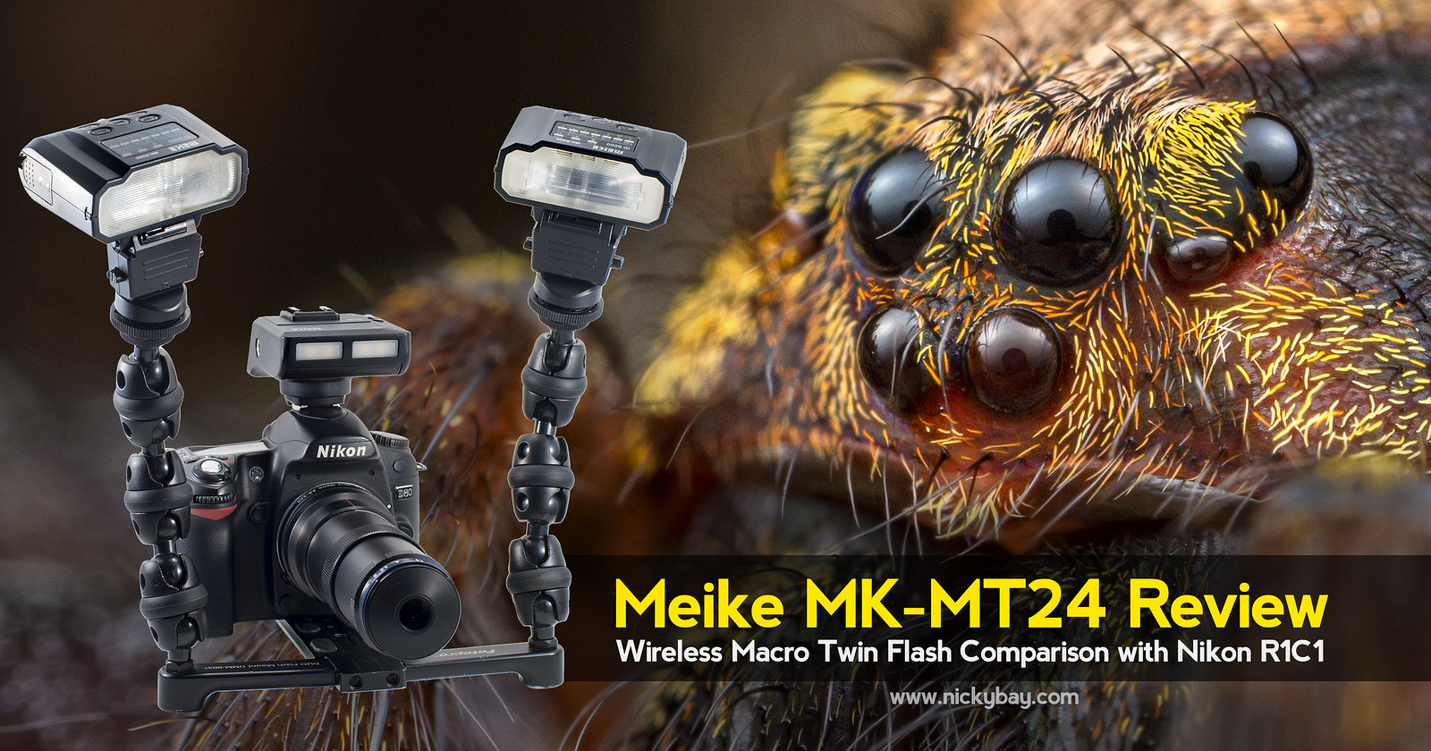 Meike MK-MT24 Review: Wireless Macro Twin Flash Comparison with Nikon R1C1