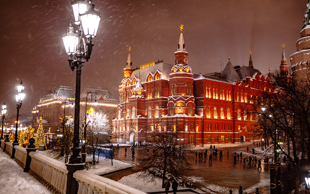 Moscow Winter Nights, Canon EOS 5D MARK II, Tamron SP 35mm f/1.8 Di VC USD