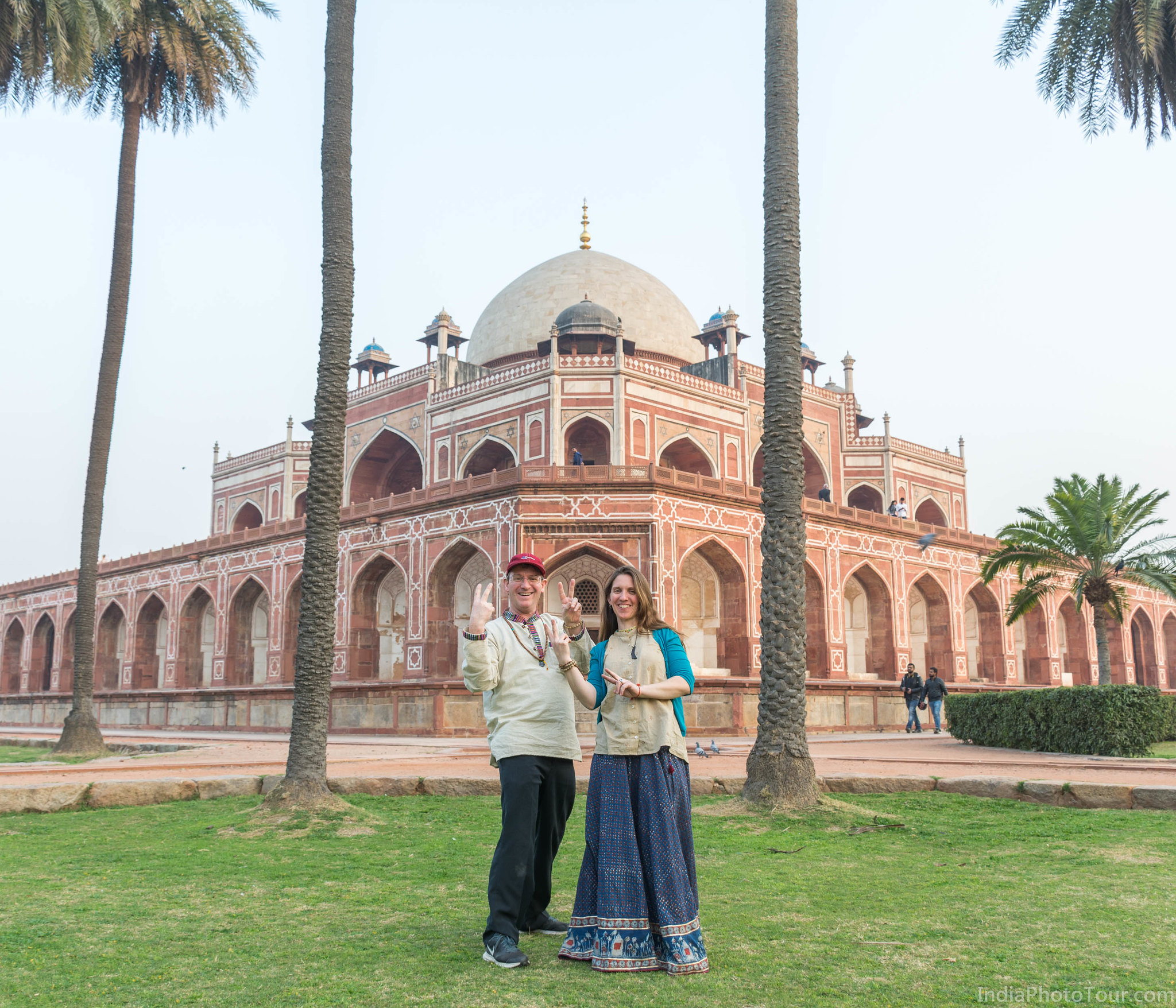 Some fun in front of Humayun's Tomb