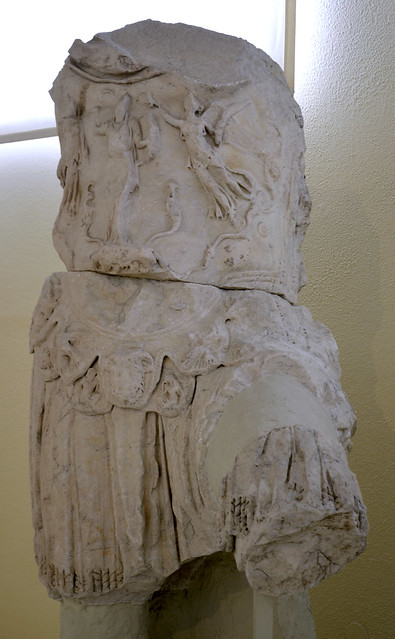 Torso of a colossal statue of Hdrian wearing a breastplate, Archaeological Museum of Piraeus, Greece