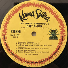 THE LOVIN' SPOONFUL'S:FIRST ALBUM(LABEL SIDE-B)
