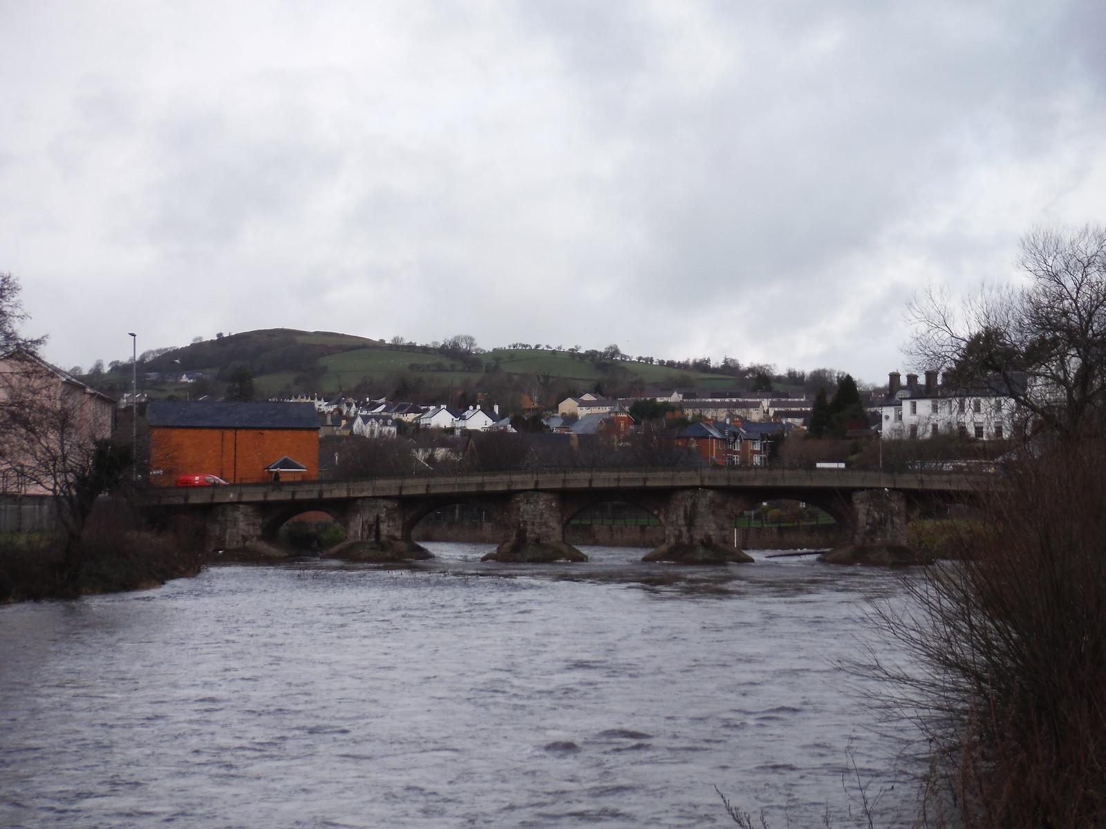 Usk Bridge, Brecon SWC Walk 306 - Brecon Circular (via Y Gaer, Battle and Pen-y-crug)