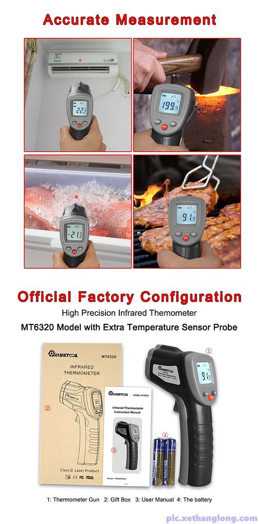 Súng đo được nhiệt độ của nhiều môi trường khác nhau với độ chính xác cao