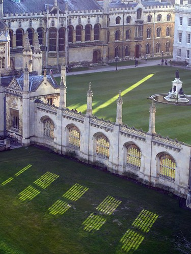 Cambridge - From Great St. Mary's Church - King's College Lawn and Shadow