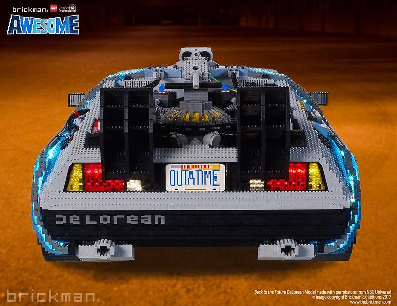 LEGO® Brick Back to the Future DeLorean back