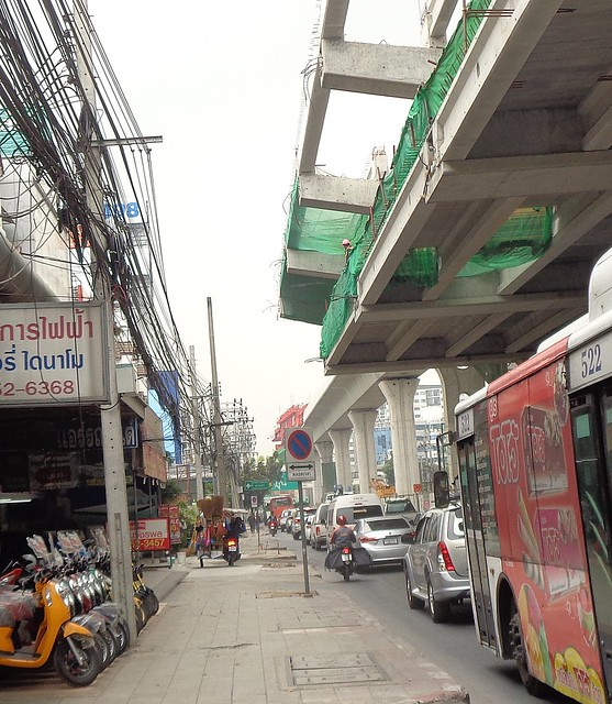 possible five thousand baht fine or not, they are still driving on the sidewalk