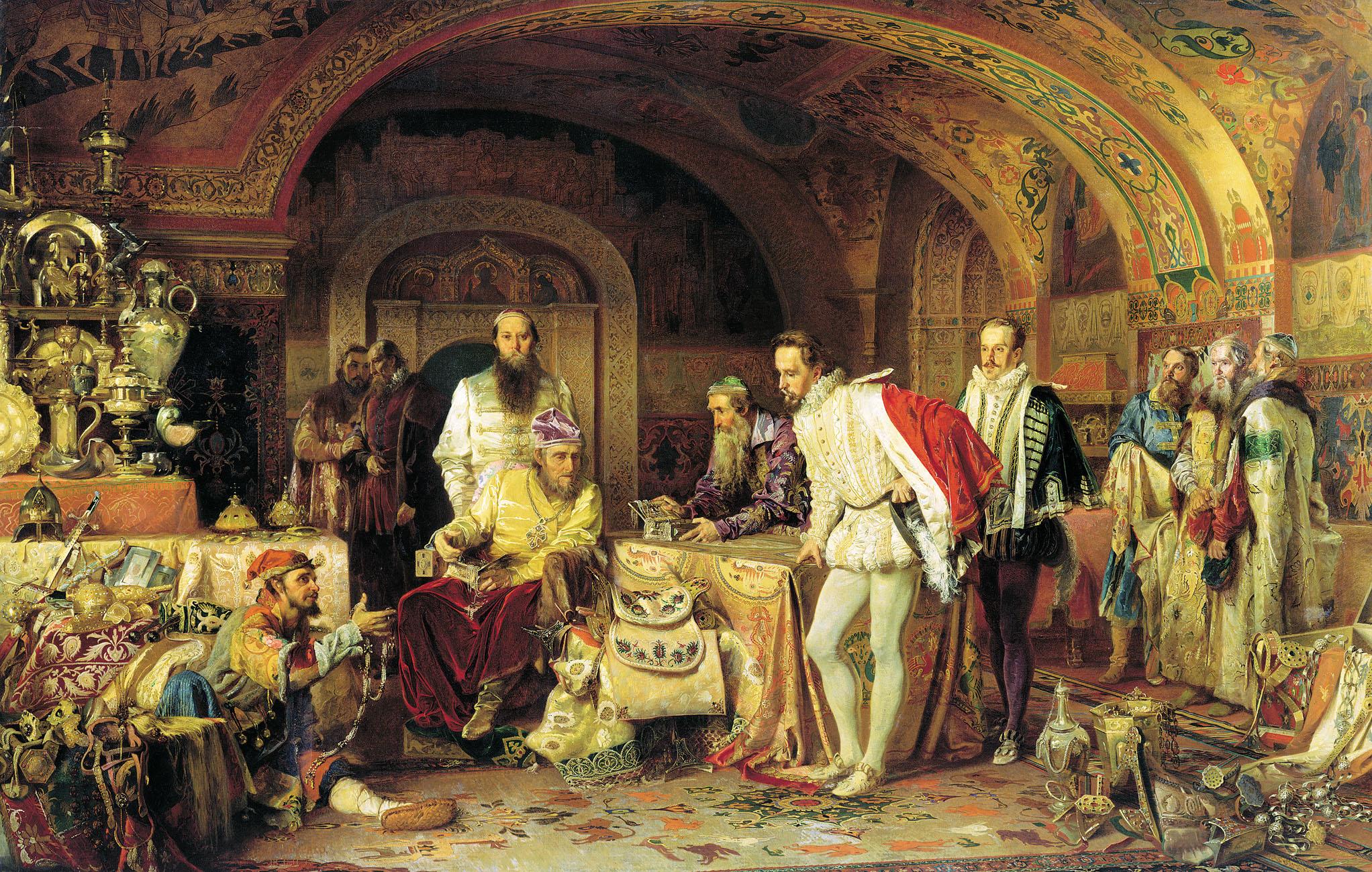 Ivan the Terrible Showing His Treasures to Jerome Horsey by Alexander Litovchenko (1875)