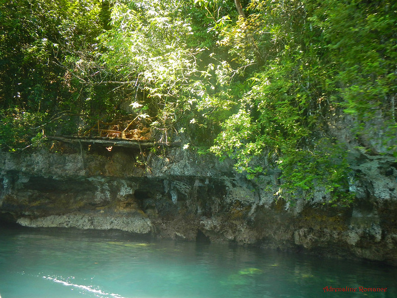 Diving platform outside Magkokoob Cave