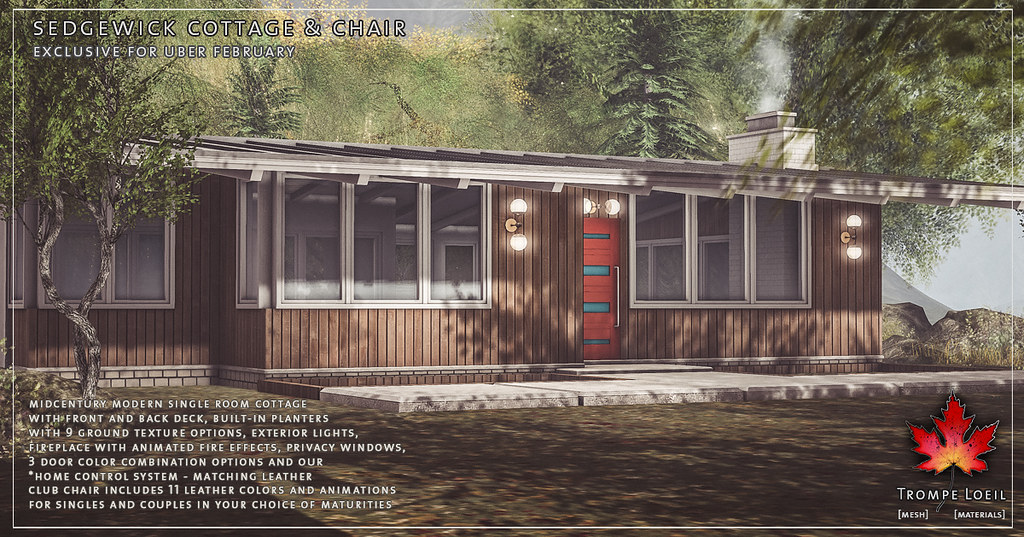 Trompe Loeil - Sedgewick Cottage and Chair for Uber February - TeleportHub.com Live!