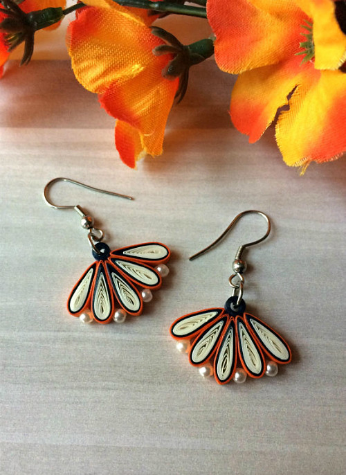 Quilled Art Deco Earrings