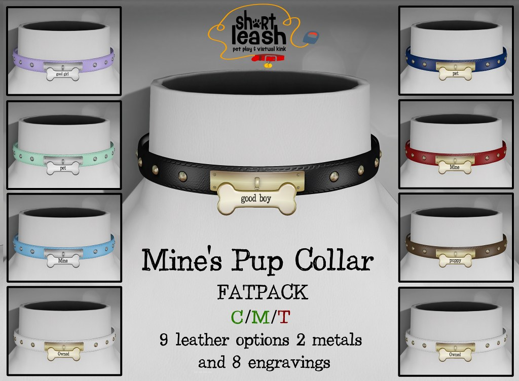 Short Leash – Mines´s pup collar fatpack